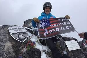 veteran kirstie ennis makes historic summit climb for heroes project