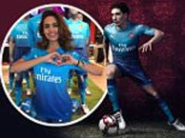 Arsenal reveal away kit - with some help from Esha Gupta