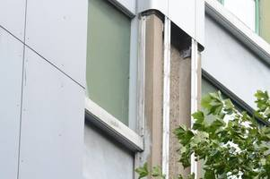 Workers strip fire-risk cladding from Bristol tower block after it fails Grenfell safety tests