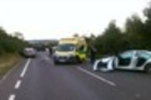 Driver suffers serious injuries in crash which overturned lorry...