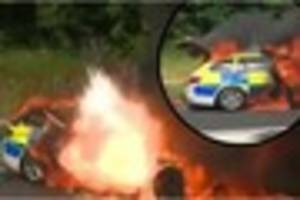 police still don't know why their car burst into flames and...