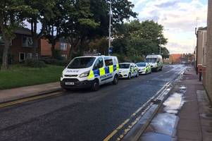 armed police descend on grimsby flat