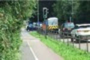 A man has been taken to hospital after a two car crash in...