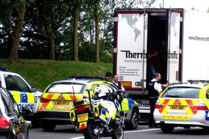 four people in care of social services after 11 people from iran and iraq fled lorry in somerset