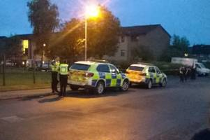 armed police look for 'peaceful conclusion' as they attend siege incident in denny