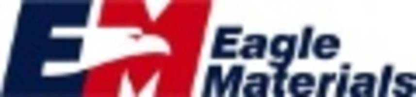 Eagle Materials Reports First Quarter EPS up 22% on Record Revenues