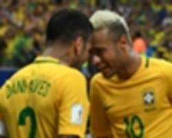 dani alves offers angry response to claims he is trying to talk neymar into psg move