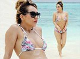 eotb's lauryn goodman shows off physique in barbados