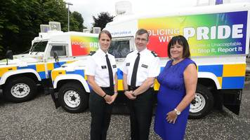 Belfast Pride: First uniformed police officers to take part in parade
