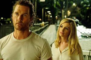matthew mcconaughey and anne hathaway look tense in 'serenity' first-look pic