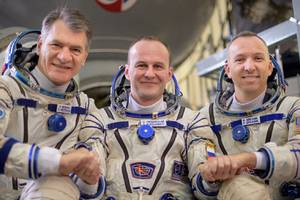 watch an international crew of astronauts launch to the space station today