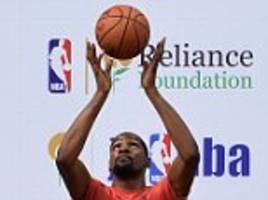 nba's most valuable player kevin durant arrives in india