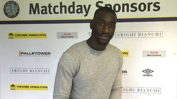 gime toure: macclesfield town sign french striker on one-year contract