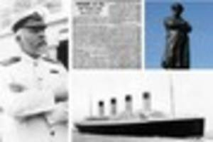 on this day: statue of titanic captain edward smith unveiled in...