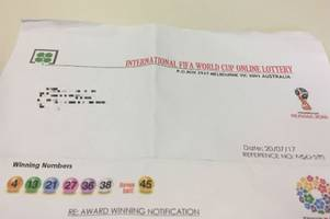 Why this World Cup 'lottery win' letter is not all it appears