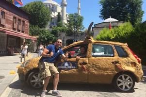 Mongol Rally - Finding a Scottish football fan driving through the Turkish countryside