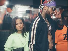 christina milian & dave east surrounded by azz, azz, azz at insane strip club (issa date?)