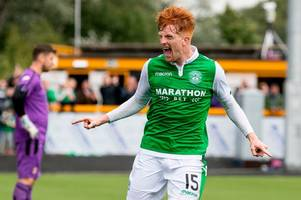 hibs, falkirk, livingston, ayr, hamilton and motherwell top groups to progress in the betfred cup