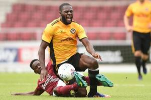 northampton town 2 newport county 1: justin edinburgh's cobblers put the boot in to condemn exiles to pre-season defeat