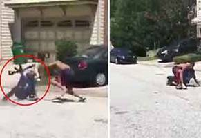 kid pulls out an ar-15 during a fist fight and gets dealt with accordingly