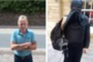 exeter man who changed into a burqa is searched by armed police