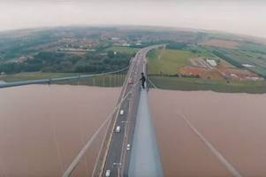 vloggers release stomach turning footage of their humber bridge climb before being confronted by police