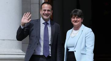 arlene foster urges leo varadkar to accept brexit is going ahead