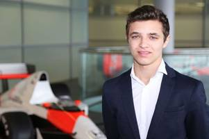 lando norris wows with the second quickest time in his first official formula one test