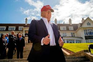donald trump thinks an independent scotland would be 'terrible' and fears it would affect the british open