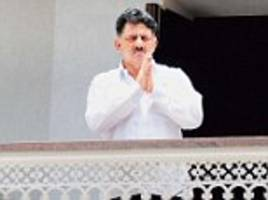 d k shivakumar has his offices raided by income tax dept