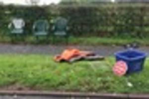 video:  'santa stop here' sign among rubbish fly-tipped in...