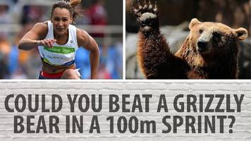 london 2017: bbc analyst dame jessica ennis-hill's versus a hippo, a lion and a grizzly bear...