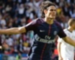 video: cavani nets psg's opener with neymar looking on