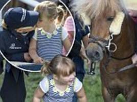 zara tindall gives daughter mia, three, a loving kiss