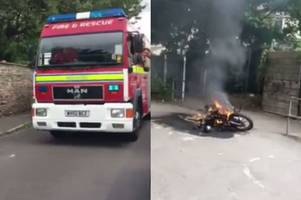 reckless youths torch motorbike metres from site of fatal fishponds fire