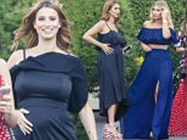 pregnant ferne mccann excitably celebrates her birthday