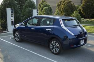 Leaked photos of new all-electric Leaf provide first look at Nissan's Tesla killer