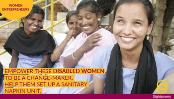 help empower disabled women with sightsavers india fundraiser