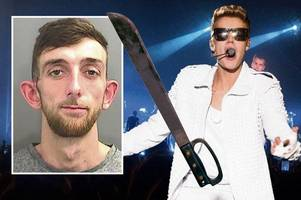 racist justin bieber fan threatened muslim taxi driver with machete outside gig in row over parking