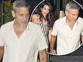 amal and george clooney enjoy dinner in lake como