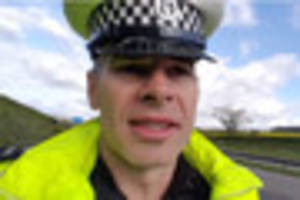 Police officer 'regrets' posting 140mph video on Twitter