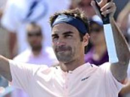 roger federer cruises to second round win at rogers cup