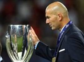 Zinedine Zidane: Real Madrid 'hungry for more trophies'