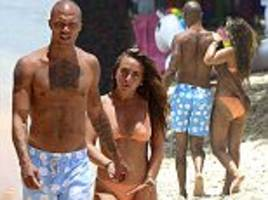 chloe green cosies up to jeremy meeks in barbados