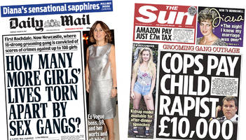 the papers: anger over £10,000 child rapist 'spy'