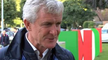 Mark Hughes: Wales football legend happy at hockey-playing daughter being level on caps