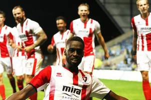 striker's dream start has taken even cheltenham town manager gary johnson by surprise