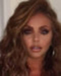 jesy nelson flashes cleavage and tattoos as she lifts up dress