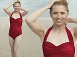 chelsea manning poses in a scarlet swimsuit for vogue