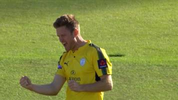 t20 blast: glamorgan's aneurin donald bowled out after only three balls